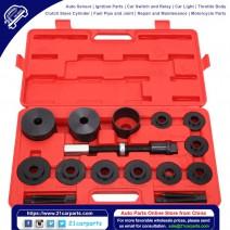 19pcs Master Set Front Wheel Hub Drive Bearing Removal Install Service Tool Kit Black