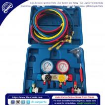 A/C Refrigeration R404A R410A R22 Dual Manifold Gauges Valve Kit W/ 5ft Hose