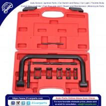5 Sizes Valve Spring Compressor Pusher Tool for Car & Motorcycle Black