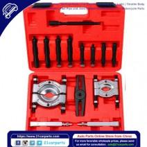 "14pcs Bearing Separator Puller Set 2"" and 3"" Splitters Remove Bearings Tool Kit Black"