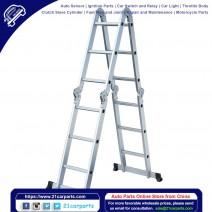 12.2 ft Folding Ladder Aluminum Multi Purpose Extension Ladders Building Supplie