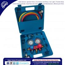 R134A Manifold Gauge Set AC A/C 5FT Colored Hose Air Conditioner