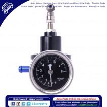 Fuel Pressure Regulator with Kpa Oil Gauge Kit Black