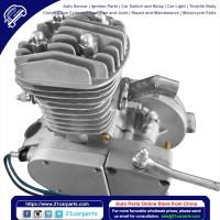 50cc 2-Stroke High Power Engine Bike Motor Kit Silver