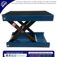 1100lbs Steel Adjustable Scissor Lift for Motorcycles Blue