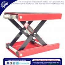 1100lbs Steel Adjustable Scissor Lift for Motorcycles Red