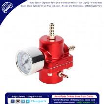 Universal Aluminum Alloy Fuel Pressure Regulating Valve + Pressure Gage + Hose Kit Red
